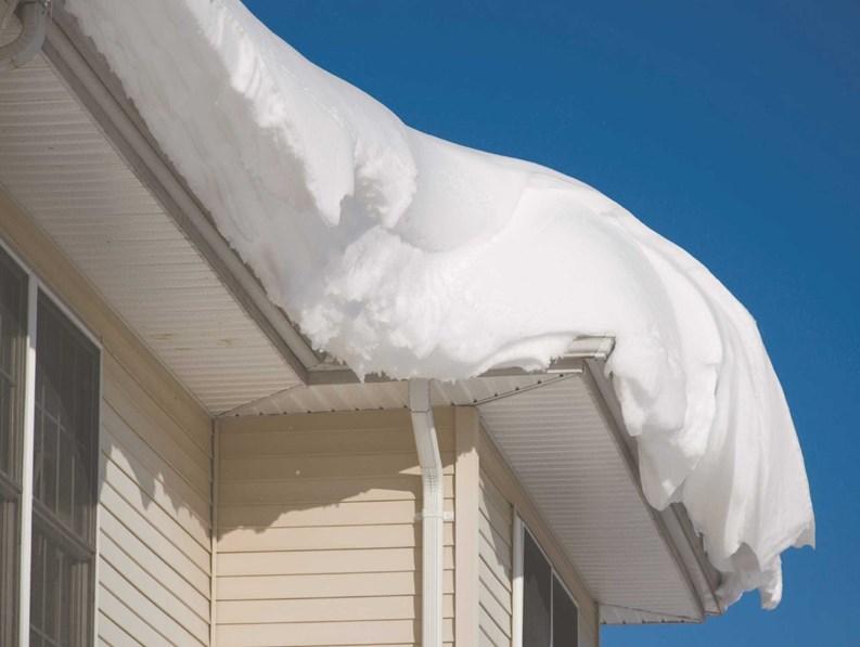 Sniegas ant stogo